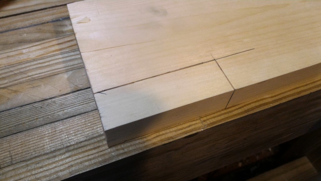 block for dovetail template