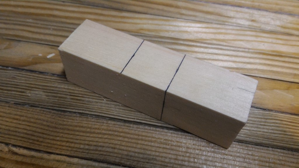 Marking the dovetail template