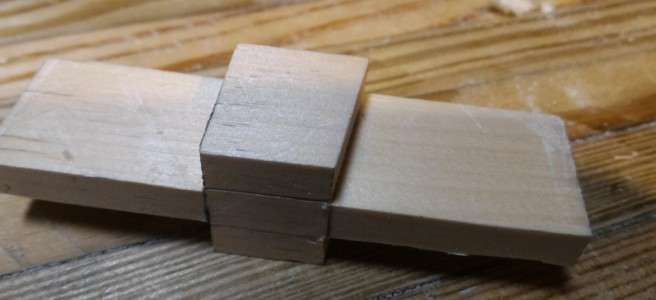 Dovetail template after paring with chisel
